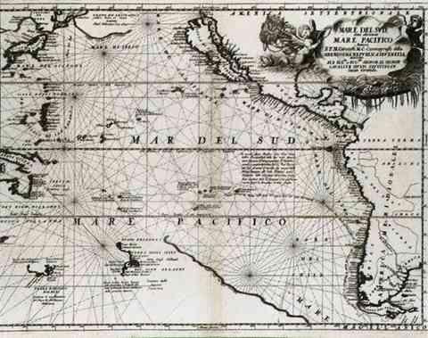 Mar del Sud, Vincenzo Coronelli, 1696