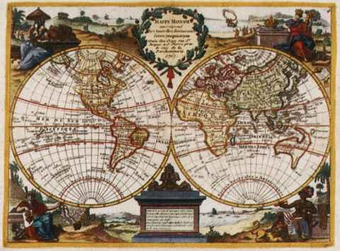 Mappe Monde, Jean Crepy, 1767